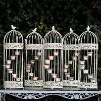 cream tea light birdcage/lantern