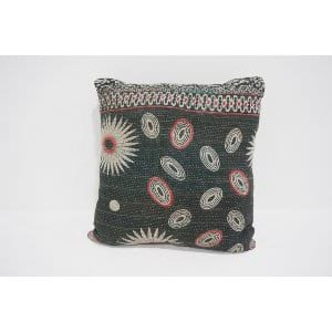 boho kantha pillow #2
