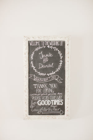 xl white ornate frame chalkboard