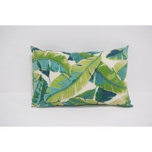 palm leaf lumbar pillow - bright