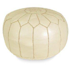 sydney moroccan pouf - cream