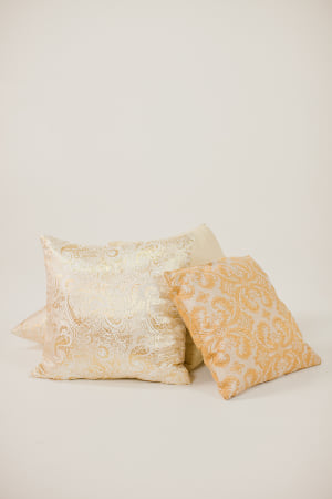 gold pillows {set of 3}