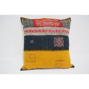 boho kantha pillow #10