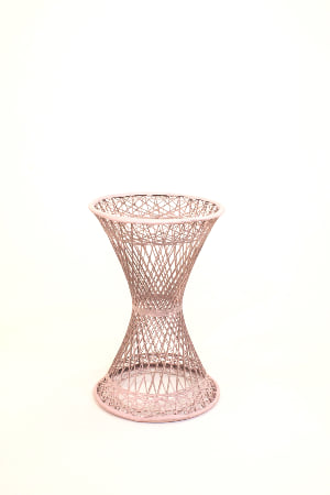 pink wicker base