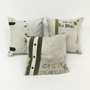 mail bag pillows {set of 3}