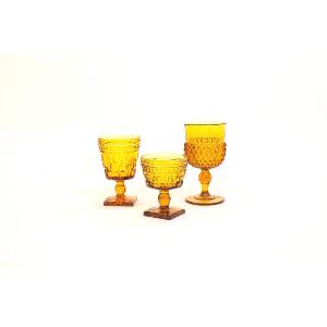 yellow glass vessel