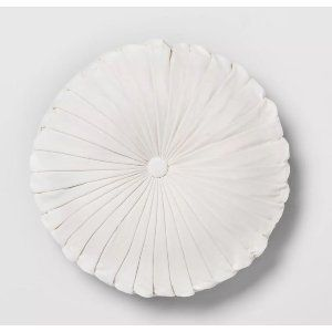 round white velvet pillow