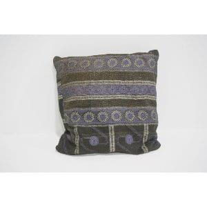 boho kantha pillow #3