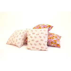 pink floral pillows {set of 3}