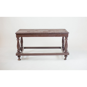 teak top coffee table
