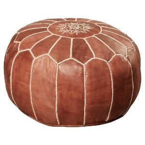 sydney moroccan pouf - brown
