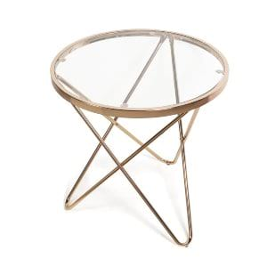 tetra rose gold side table