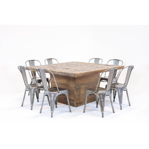 holden table dining series: remington metal chairs