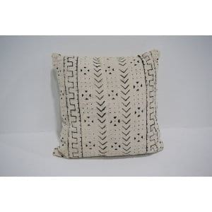 white mud cloth pillow #4