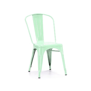 mint remington metal chair