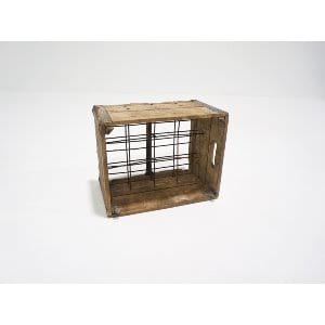 large wooden milk crate