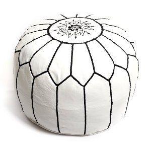 sydney moroccan pouf - white