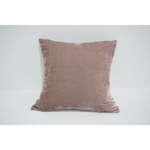 dusty blush velvet pillow