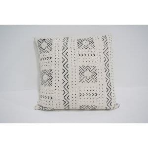white mud cloth pillow #2