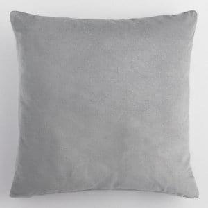 gray velvet pillow {set of 3}