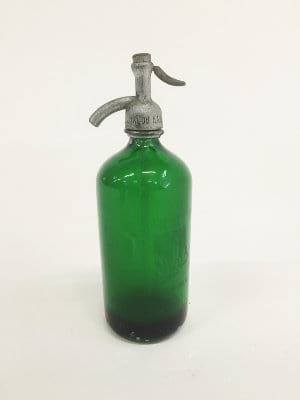 siegel bros green seltzer bottle