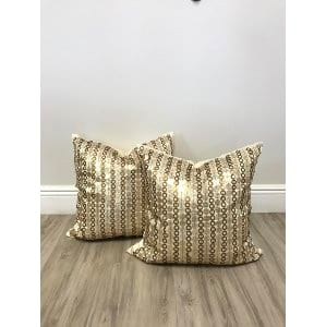gold sequin pillows {set of 2}