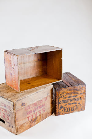 large wooden crate - single