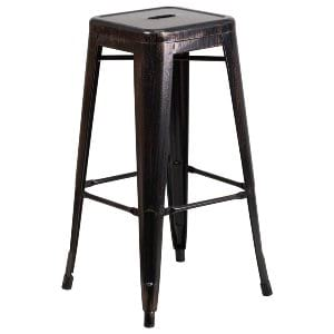 antique black remington bar stool