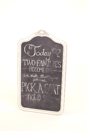 white curved chalkboard