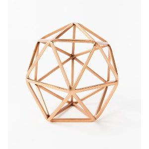 copper octohedron - small