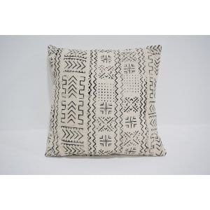 white mud cloth pillow #1