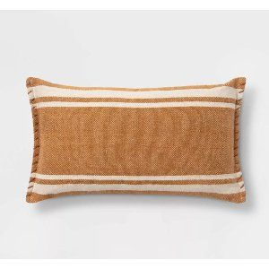 mustard lumbar pillow