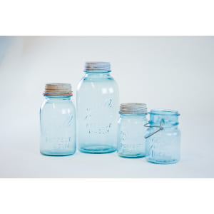 blue mason jar - single