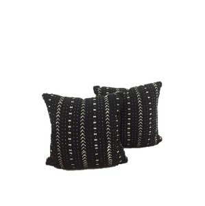 black mud cloth pillows {set of 2}
