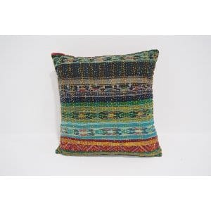 boho kantha pillow #4