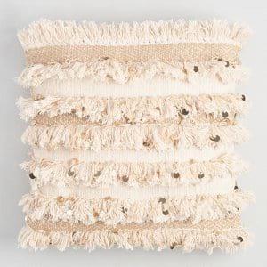 moroccan wedding blanket pillow {set of 3}