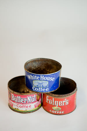 vintage coffee can - single