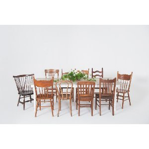 hampton farmhouse dining series: mismatched chairs