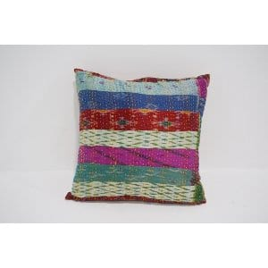 boho kantha pillow #7