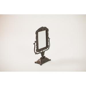 black tabletop mirror