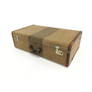 crown beige suitcase
