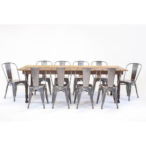 thompson farmhouse dining series: remington metal chairs