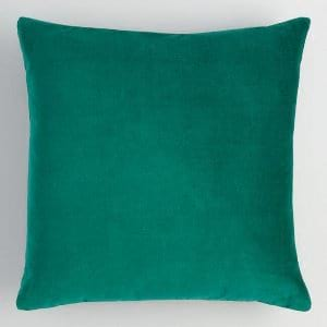 evergreen velvet pillow