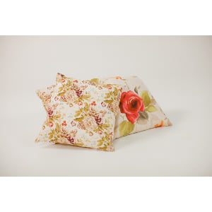 red floral pillows {set of 3}
