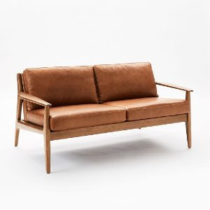 wyatt leather loveseat