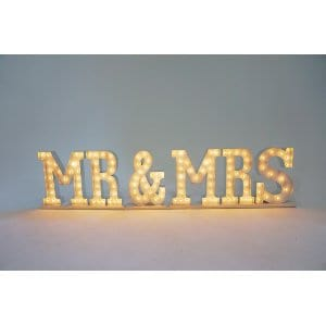 MR & MRS marquee