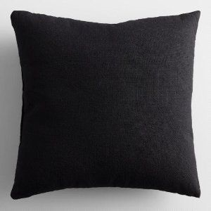 black woven pillow