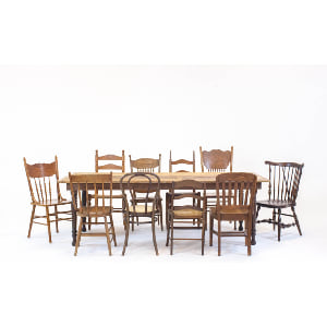 thompson farmhouse dining series: mismatched chairs
