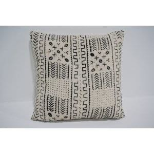 white mud cloth pillow #7