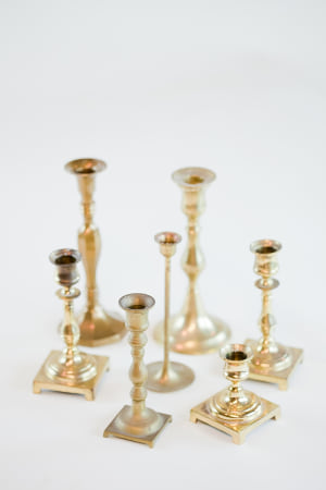 brass candle holder - single